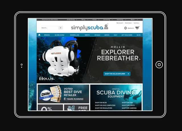 Watch and share Scuba Homepage GIFs by bowen on Gfycat