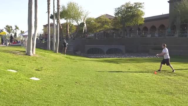 Watch Round One 2019 Memorial Championship - Simon Lizotte hole 15 putt GIF by Benn Wineka UWDG (@bennwineka) on Gfycat. Discover more Sports, dgpt, disc golf, disc golf pro tour GIFs on Gfycat
