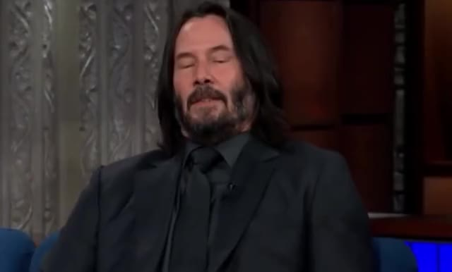 Watch this curated GIF by Deus GIF Machina (@gifmachina) on Gfycat. Discover more a, awkward, breath, breathing, calm, colbert, deep, disappointed, enough, exhale, exhaling, keanu, pff, please, reeves, sighs, stephen, stop, take, that's GIFs on Gfycat