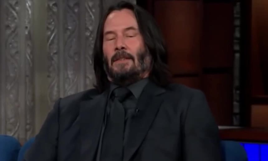 a, awkward, breath, breathing, calm, colbert, deep, disappointed, enough, exhale, exhaling, keanu, pff, please, reeves, sighs, stephen, stop, take, that's, Keanu Reeves is disappointed GIFs