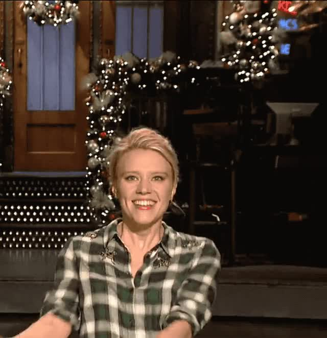 Watch this awesome GIF by Reactions (@ioanna) on Gfycat. Discover more awesome, celebrate, dance, excited, happy, kate, kate mckinnon, live, mckinnon, night, saturday, snl, woohoo GIFs on Gfycat