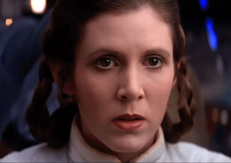 carrie fisher, confused, empire strikes back, princess leia, star wars, Princess Leia Confused GIFs