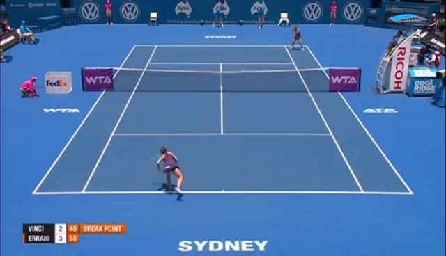 Errani vs Vinci (Sydney 2014) GIFs