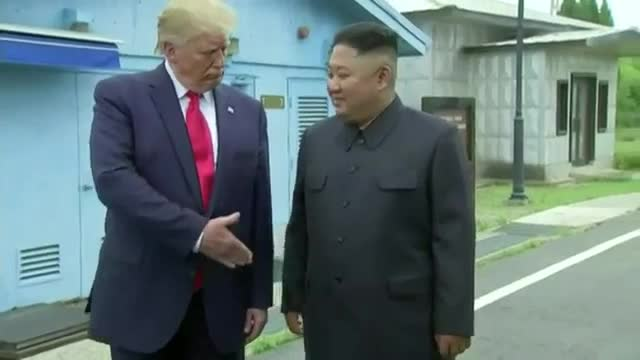 donald, glad, good, grateful, handshake, job, jong, kim, korea, leader, meet, nice, thank, thankful, thanks, to, trump, un, you, Kim and Trump are bffs GIFs