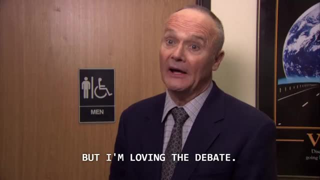 Watch CreedLovingTheDebate GIF on Gfycat. Discover more creed, dundermifflin GIFs on Gfycat