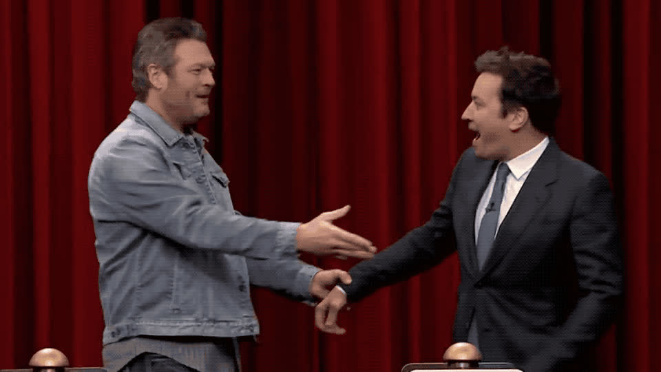 I love you, bff, blake, fallon, hug, jimmy, love, shelton, show, song, thank, thanks, tonight, you, Jimmy and Blake are bffs GIFs