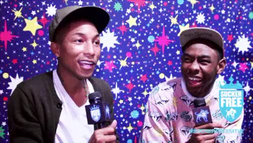 Watch and share Pharrell Williams GIFs and Tyler The Creator GIFs on Gfycat