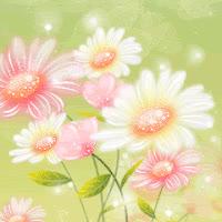 daisy, flower, flowers, Sprkl Daisies GIFs
