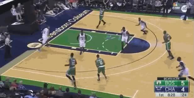 Boston Celtics v Charlotte preseason 6/10/2016 Crowder three