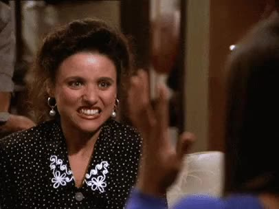 cosmo kramer, elaine benes, george costanza, jason alexander, jerry seinfeld, julia louis-dreyfus, kramer, michael richards, seinfeld, The Nose Job. : seinfeldgifs GIFs
