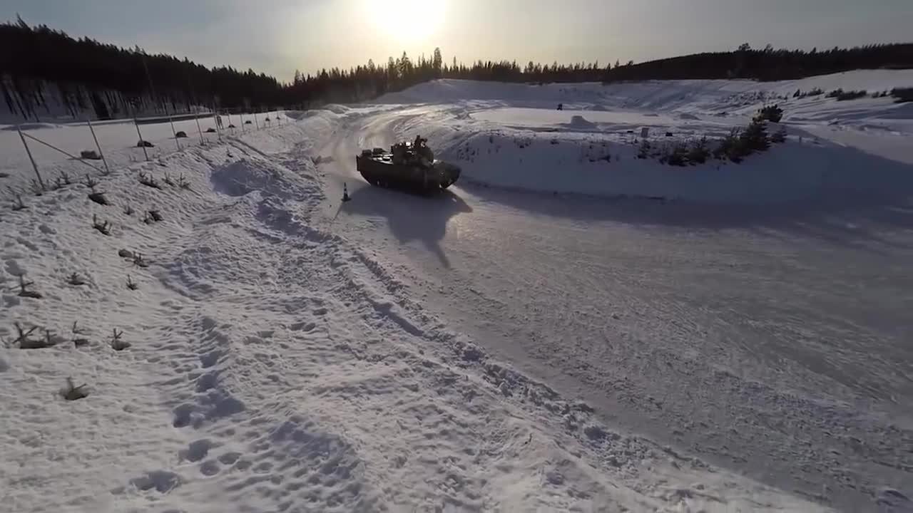 norway, tank, united states marines, USMC Tanks vs Norway's Tanks On Ice GIFs