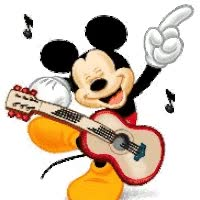 Watch and share Mickey Mouse Guitar animated stickers on Gfycat
