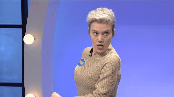 family feud, frances mcdormand, kate mckinnon, oscars edition, saturday night live, snl, thank you, thanks, Kate McKinnon as Frances McDormand GIFs