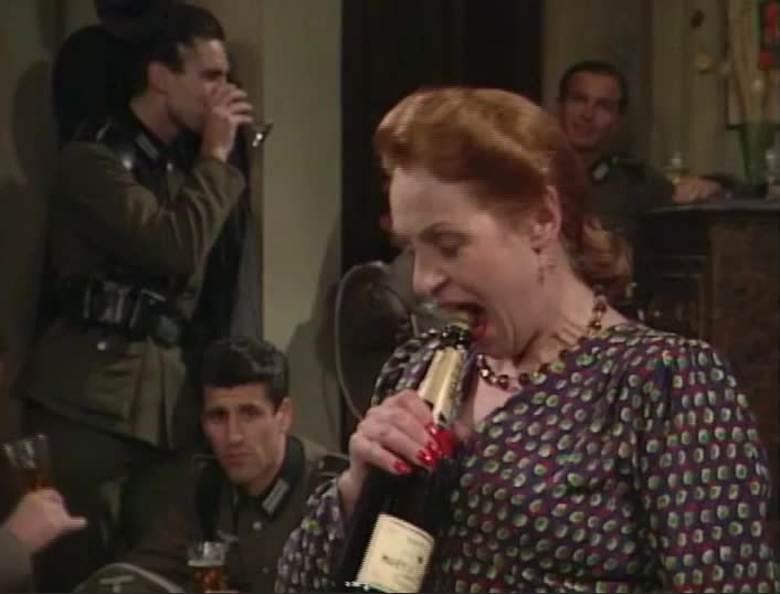 allo allo, allo allo - pull cork from wine bottle with mouth GIFs