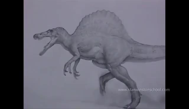 Watch spinosaurus maquette GIF on Gfycat. Discover more animatronics GIFs on Gfycat