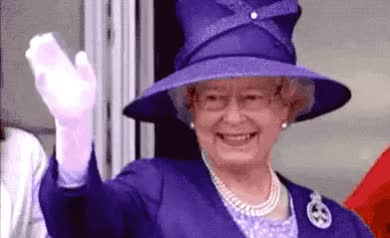 Watch this queen GIF by GIF Queen (@ioanna) on Gfycat. Discover more adios, britain, british, bye, elisabeth, farewell, goodbye, great, kingdom, later, queen, see, soon, uk, united, you GIFs on Gfycat