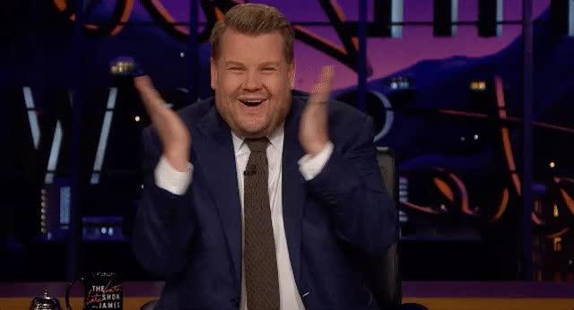 James Corden, blush, blushing, embarrassed, giggle, late late show, omg, shy, James Corden Blushing GIFs