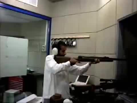 firearm, gun, shooting sport, Funny Arab Shooting gun. GIFs