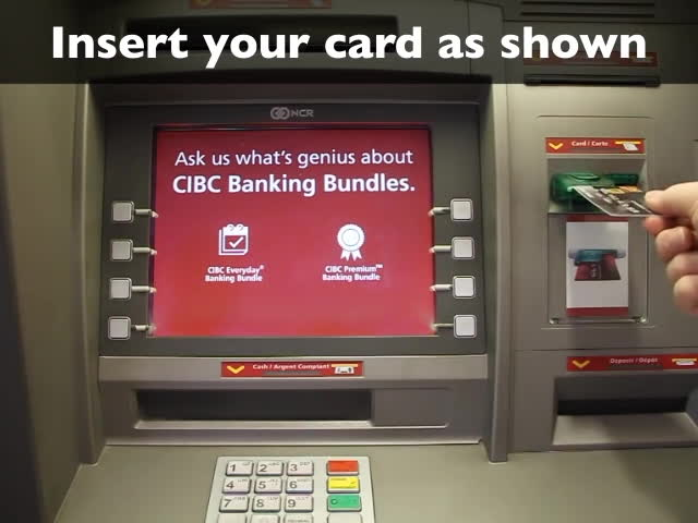 automated teller machine (invention), Using a bank machine (ATM) to make a withdrawal GIFs
