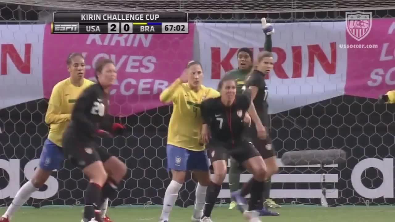 Japan, Lloyd, Monsoon, Rodriguez, Storm, USWNT, United, athletes, brazil, challenge, cheney, national, rain, shannon, solo, team, ussoccer, victory, wnt, women, WNT vs. Brazil: Highlights - April 3, 2012 GIFs