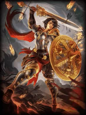 Photoset Post hado90:Smite Animated God CardBellona Default & Enyo Bellona 3 months ago