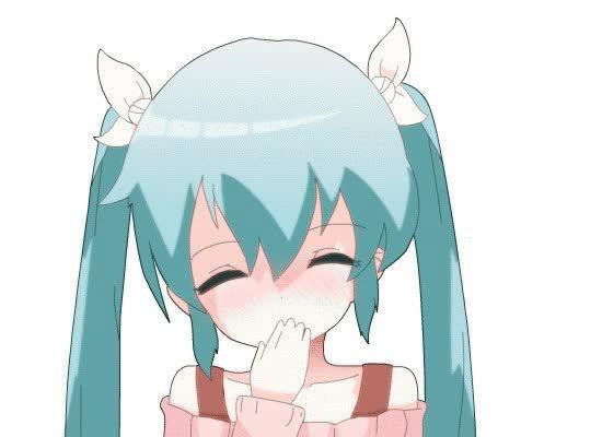 Tsunderes, tsunderes, Miku kiss~ [Vocaloid] (reddit) GIFs