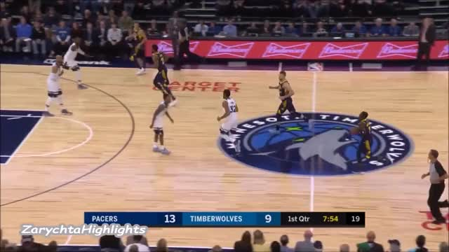 Watch Domantas Sabonis 15 pts 11 rebs 5 asts vs Wolves 17/18 season GIF on Gfycat. Discover more related GIFs on Gfycat