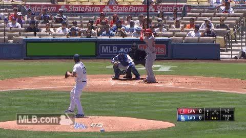 baseball, filthypitches, Kershaw vs Trout (reddit) GIFs