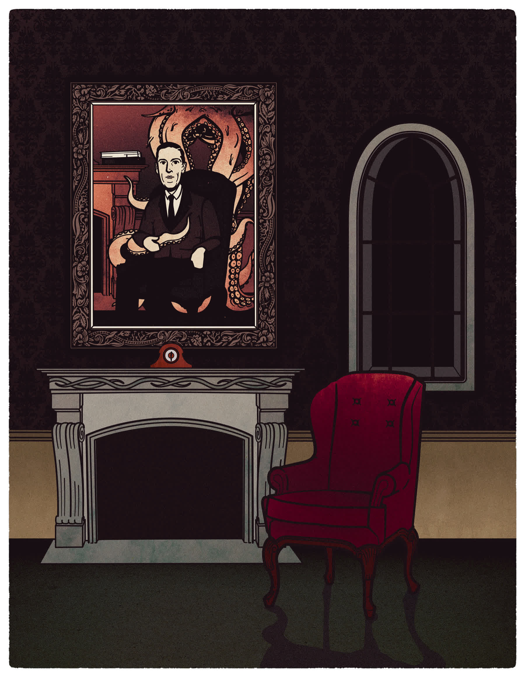 cthulhu, fiction, horror, hplovecraft, illustration, lovecraft, nocter, selin arisoy, lovecraft GIFs