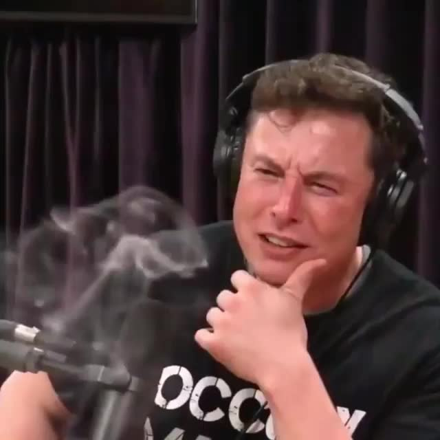 IFYOUHIGH, celebs, elon musk, Elon Musk smoking weed on @joerogan 's podcast. / via @highsnobiety GIFs