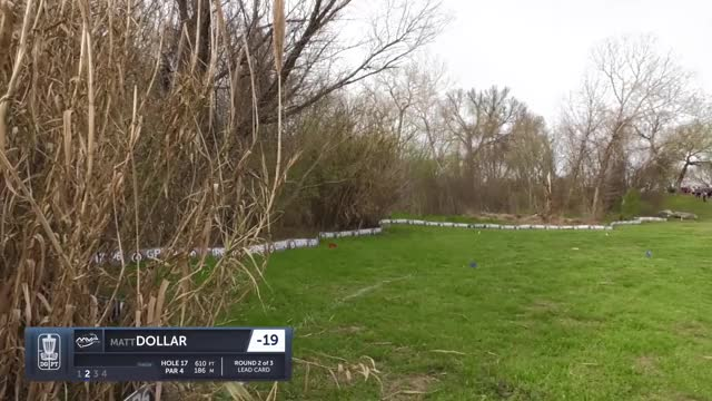 Watch Round Two 2019 Waco Annual Charity Open - Matt Dollar hole 17 putt GIF by Benn Wineka UWDG (@bennwineka) on Gfycat. Discover more Sports, dgpt, disc golf, disc golf pro tour GIFs on Gfycat