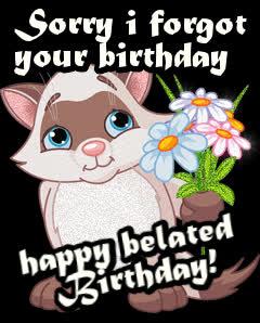 bday, belated, belated birthday, birthday, happy birthday,  GIFs