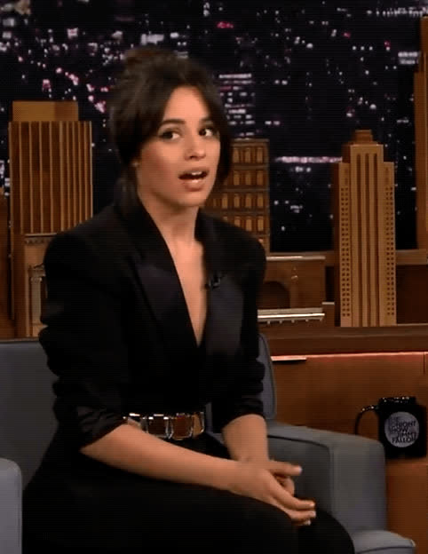 blush, camila cabello, embarrassed, mortified, oh my god, tonight show, Camila Cabello Embarrassed GIFs