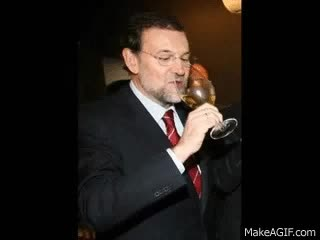 Watch and share Presidente Rajoy: Viva El Vino! GIFs on Gfycat