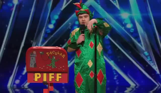 AGT, Piff the Magic Dragon - Audition (Americas Got Talent 2015) GIFs