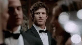 Watch this andy samberg GIF on Gfycat. Discover more andy samberg, suit, tuxedo GIFs on Gfycat