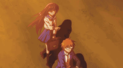 anime_irl, animefunny, funnygifs, The Daily Lives of Highschool Boys - Literary Girl GIFs