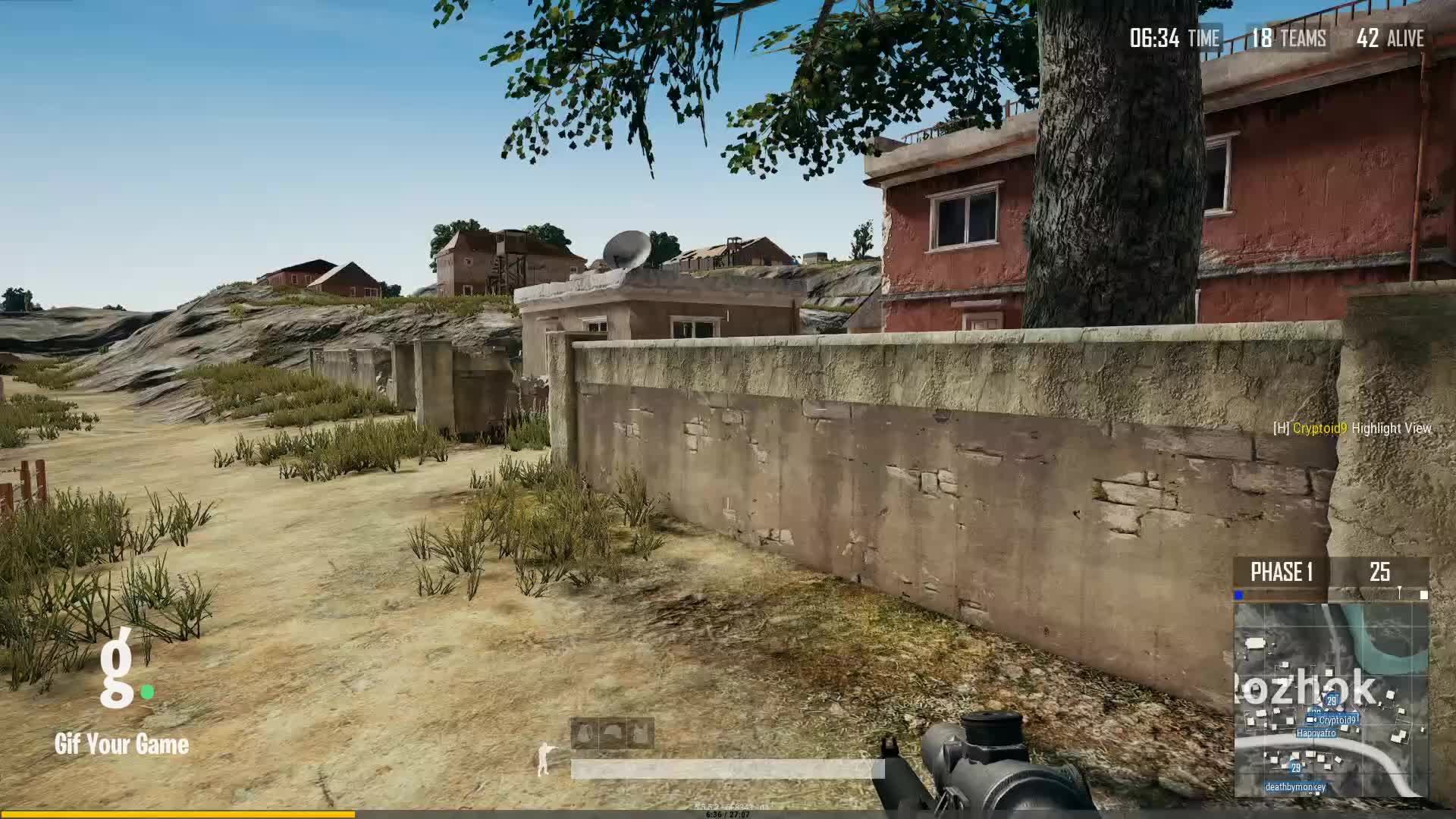 Cryptoid9, Gaming, Gif Your Game, GifYourGame, Kill, PUBG, PUBattlegrounds, ⏱️ Cryptoid9 killed NiceHair GIFs