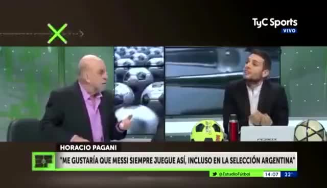 Watch Horacio Pagani casi le pega a Edul por criticar a messi del barcelona GIF on Gfycat. Discover more related GIFs on Gfycat