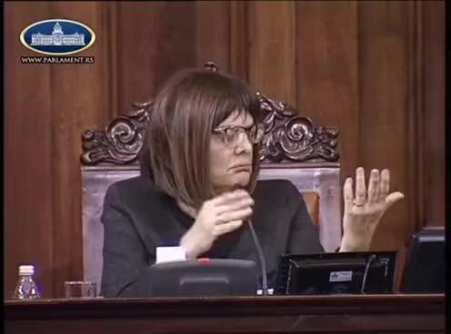 Skupština - Maja Gojković i Saša Radulović