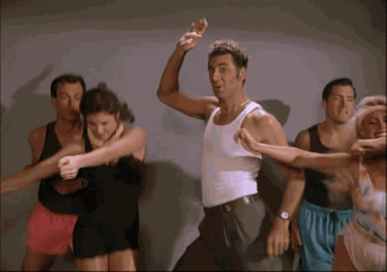 kramer, seinfeld, work out, working out, kramer dancing GIFs
