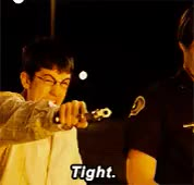 Watch this gun GIF on Gfycat. Discover more bill hader, christopher mintz-plasse, gun, jonah hill, judd apatow, mclovin, michael cera, seth rogen, shots fired, superbad GIFs on Gfycat