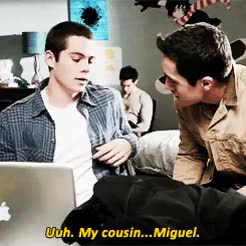 Watch and share Stiles Stilinski GIFs and Cousin Miguel GIFs on Gfycat