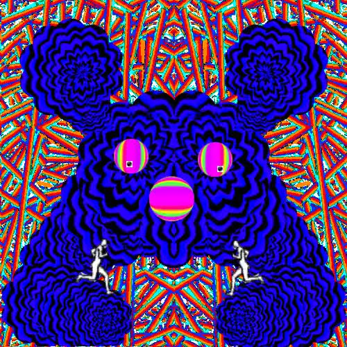 Watch this GIF on Gfycat. Discover more art, bunn7y, bunny, color cycle, cyclical ritual, dirty, disturbing, fuzzy, game like, gif, giffy trip, gritty, infinite loop, infinite runner, low rez, perfect, phycadelia, rainbow, scroll, semetrical, semi, shakey, stare, trippy, trippy gif, wiggle GIFs on Gfycat
