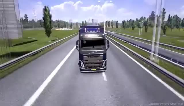 Watch and share Euro Truck Simulator 2 | Realistic Physics Mod V8.0.1 | 1.7.0+ 1.8.0+ | Official Version! GIFs on Gfycat