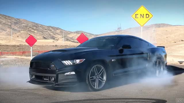 Watch and share Mustang GT Roush Burnout GIFs on Gfycat