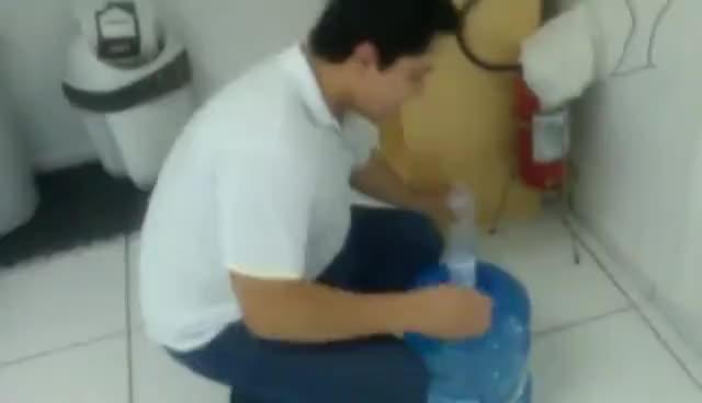Watch and share Tutorial Como Por Um Galão De Água No Suporte  Sem Derrubar Uma Gota. GIFs on Gfycat