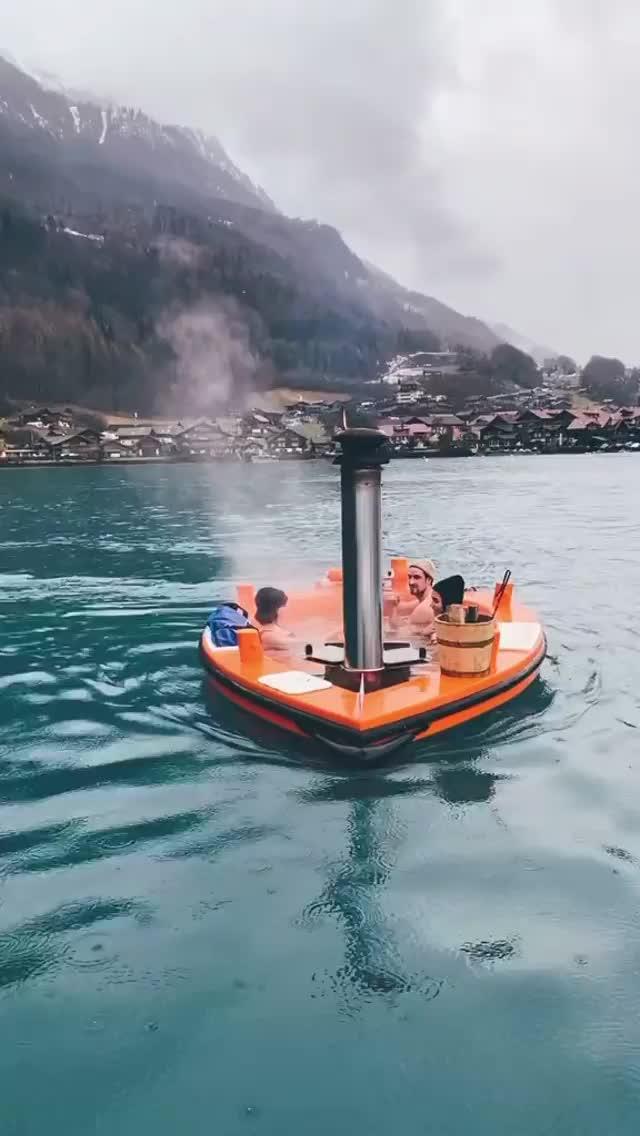 Watch and share Switzerland Has Mini Jacuzzi Boats GIFs by Unicornglitteryblood  on Gfycat
