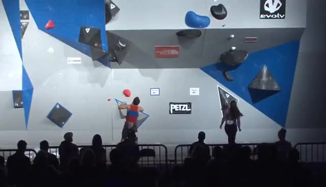 Semifinal Round - 2017 Bouldering Open National Championship GIFs