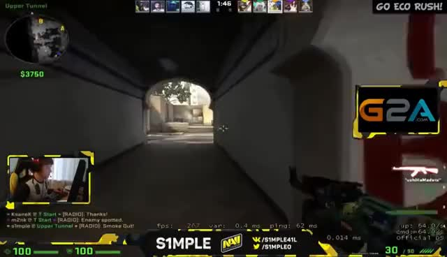 Watch and share S1mple - Blyat! GIFs on Gfycat
